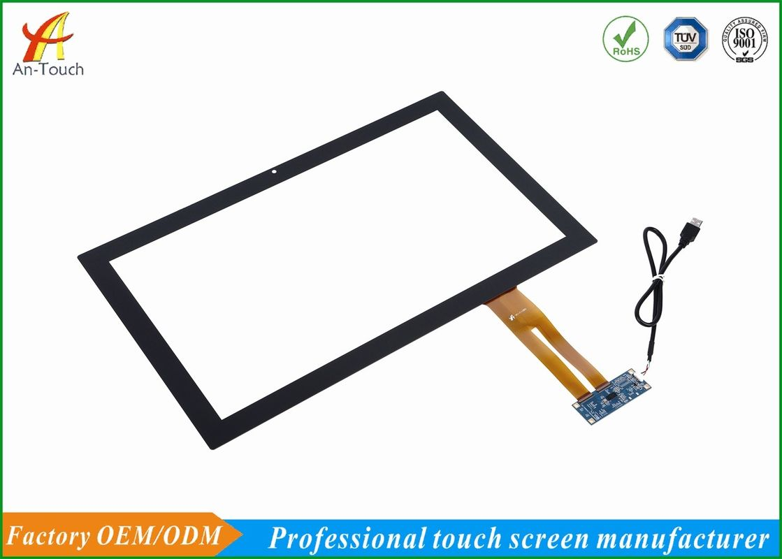 Water Resistant Usb Touchscreen Display , 10 Point 18.5 Touch Screen For Medical Equipment